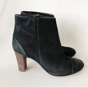 Cole Haan Brushed Leather Black Ankle Bootie 6.5